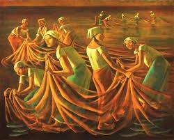 """Anita Magsaysay-Ho, """"Fish Harvest at Dawn"""".jpg"""